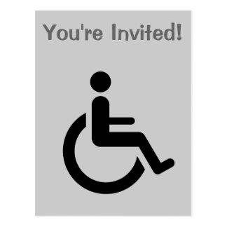Acceso de la silla de ruedas - símbolo de la silla tarjetas postales
