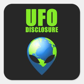 Acceso del UFO Pegatina Cuadrada