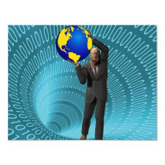 """Acceso del World Wide Web Invitación 4.25"""" X 5.5"""""""