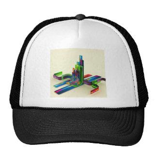 Acceso fresco abstracto los colores gorra