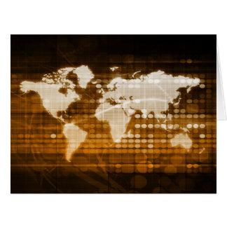 Acceso global de las soluciones del servicio y de tarjeta de felicitación grande