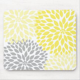 Accesorio amarillo y gris de la oficina del mouse pads