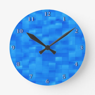 Accesorio azul elegante del cuarto de baño de la reloj redondo mediano