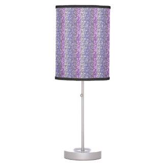 Accesorio de iluminación púrpura inusual del lámpara de escritorio