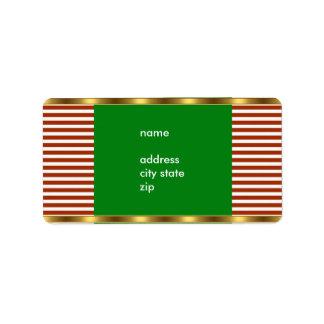 Accesorio de oro blanco rojo de la raya de la dire etiquetas de dirección