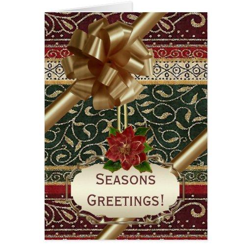 Accesorio de oro tarjeta de felicitación