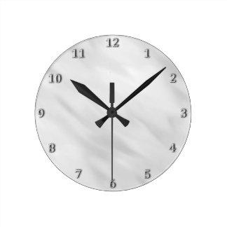 Accesorio de plata brumoso elegante del baño del reloj redondo mediano