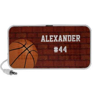 Accesorio personalizado baloncesto del altavoz mp3
