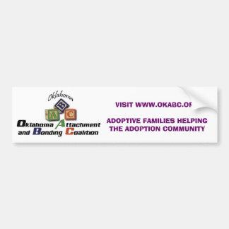 Accesorio y Bonding Coalition, Inc. de Oklahoma Pegatina De Parachoque
