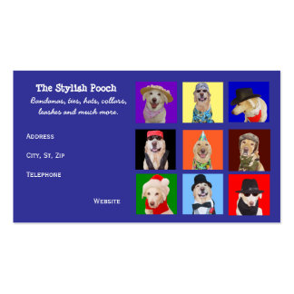 Accesorios adaptables del perro tarjetas de visita
