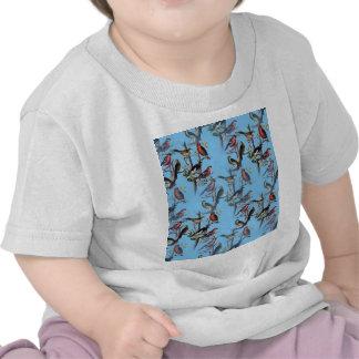 Accesorios azules LeahG del modelo de los pájaros  Camiseta
