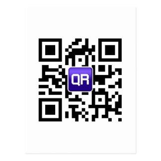accesorios cifrados QR del personalizado de Tarjeta Postal