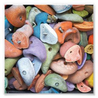 Accesorios coloridos de la pared de la roca cojinete
