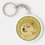 Accesorios de Dogecoin el Shiba hablador Inu Llavero Redondo Tipo Pin