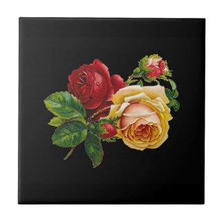 Accesorios de la impresión del rosa - negros rojo tejas  cerámicas