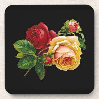 Accesorios de la impresión del rosa - negros rojo posavasos