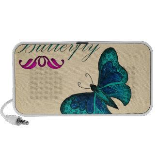 accesorios de la mariposa iPod altavoz