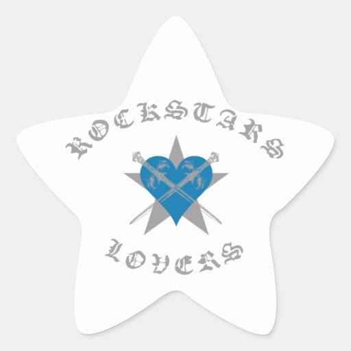Accesorios de la ropa de moda de Rockstars y de Calcomania Forma De Estrella