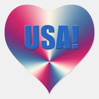 Accesorios de las Olimpiadas de los E.E.U.U. Pegatina En Forma De Corazón
