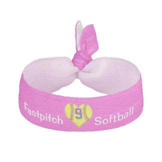 Accesorios del pelo del softball de los chicas con gomas de pelo