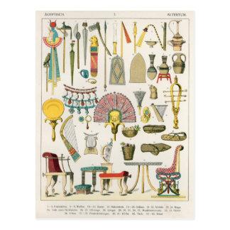 Accesorios egipcios, del 'der Voelker de Trachten Tarjeta Postal