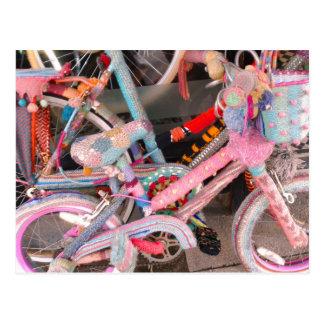 Accesorios hechos punto de la bicicleta tarjetas postales