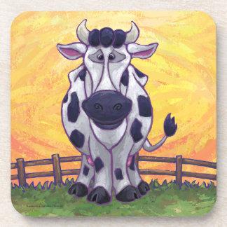 Accesorios lindos de la cocina de la vaca posavasos de bebidas