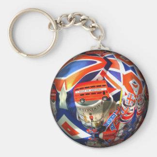 Accesorios patrióticos del arte del collage de Ing Llavero Redondo Tipo Pin
