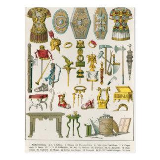Accesorios romanos postales