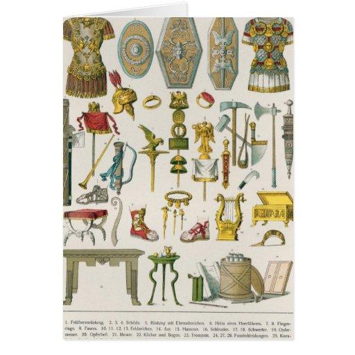 Accesorios romanos tarjeta de felicitación