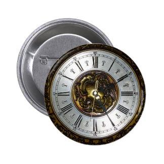 Accesorios viejos del diseño del reloj del steampu pin redondo 5 cm
