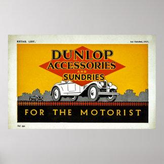 Accesorios y misceláneas de Dunlop para el motoris Póster