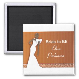accesorios y regalos de la novia para casarse imán cuadrado