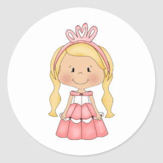 Accesorios y ropa personalizados de la princesa etiquetas redondas