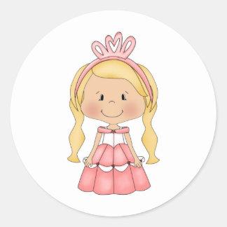Accesorios y ropa personalizados de la princesa pegatina redonda
