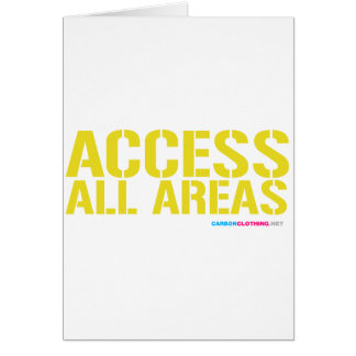 Access All Areas Card
