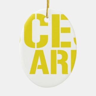 Access All Areas Ceramic Ornament