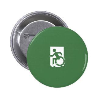 Accessible Means of Egress Icon Exit Sign Pin