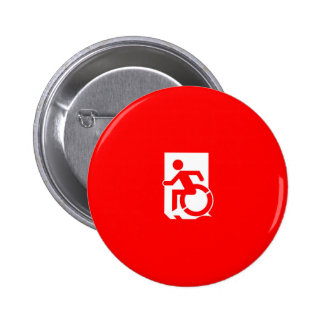 Accessible Means of Egress Icon Exit Sign Pinback Button