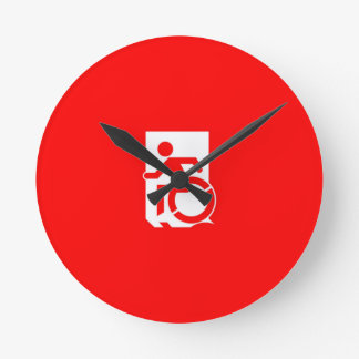 Accessible Means of Egress Icon Exit Sign Wall Clock