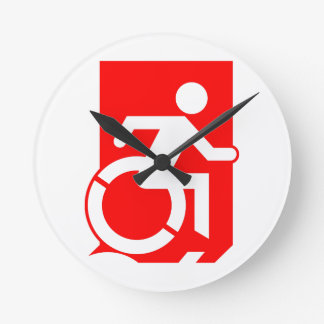 Accessible Means of Egress Icon Exit Sign Wallclocks