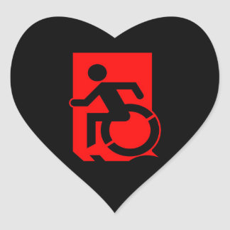 Accessible Means of Egress Icon Exit Sign Heart Sticker