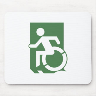 Accessible Means of Egress Icon Exit Sign Mouse Pad