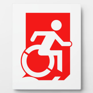 Accessible Means of Egress Icon Exit Sign Plaque