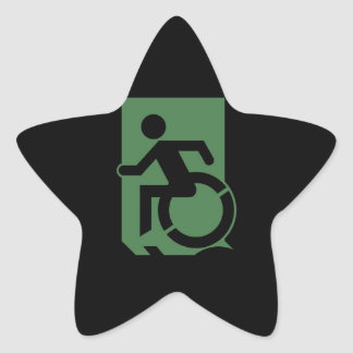 Accessible Means of Egress Icon Exit Sign Star Sticker