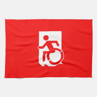 Accessible Means of Egress Icon Exit Sign Towel