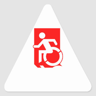 Accessible Means of Egress Icon Exit Sign Triangle Sticker