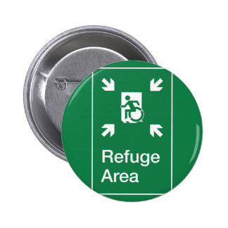 Accessible Means of Egress Icon Fire Refuge Area Pinback Buttons