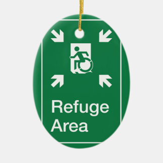 Accessible Means of Egress Icon Fire Refuge Area Ceramic Ornament