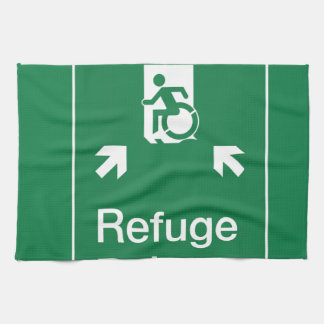 Accessible Means of Egress Icon Fire Refuge Area Hand Towel